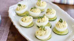 Deviled Farm Eggs with Cumin, Yogurt, Lime, and Cilantro Recipe - Vegetarian Times