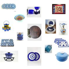Dining Decor Ideas in Blue by einder on Polyvore featuring interior, interiors, interior design, home, home decor, interior decorating, MCM, Georges Briard, Royal Doulton and Libbey