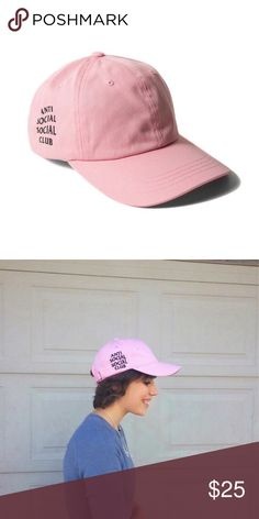 anti social club baseball club hat pink NEVER WORN anti social club baseball cap hat in PINK. this is a dupe :) NOT UO, here for views. feel free to make me an offer through the offer button! no trades Urban Outfitters Accessories Hats