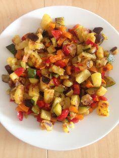 Foto: Mein leckeres Mittag- und Abendessen – eine schnelle Gemüse-Kartoffel-Pfanne :) / © Der grüne Mami Blog