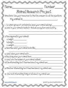 Free Animal Project Poster PrintableCould Be A Fun Summer