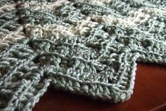 ribbed ripple afghan pattern - I have been looking for a textured crochet afghan pattern that wouldn't bore me - here it is!