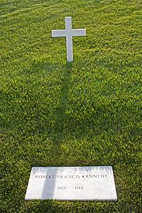 """Robert F. Kennedy's grave in Arlington National Cemetery. I have much more on this about Bobby in my board """"Remembering the Kennedy's"""""""