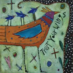 Vogel fantasie Mixed media on wood panel. Mosaic Windows, Kiki Smith, Block Painting, Bird Quilt, Bird Sculpture, Roosters, Mixed Media Collage, Texture Art, Animal Paintings