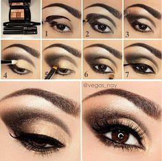 Gold Smokey Eye Makeup How To Do Smokey Eye Makeup Top 10 Tutorial Pictures For 2019 Gold Smokey Eye Makeup Gold And Black Smokey Eye Makeup Tutorial Glittery Smokey Eye. Gold Smokey Eye Makeup How To Do Smokey Eye Makeup Top 10 Tutori. Cat Eye Makeup Tutorial, Smokey Eye Makeup Tutorial, Eye Makeup Steps, Makeup Tutorials, Makeup Tips, Makeup Ideas, Makeup Geek, Makeup Addict, Makeup Pictorial