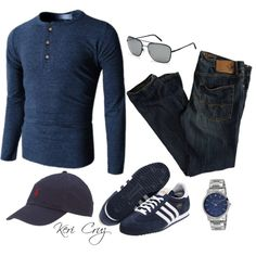 Men's Summer Fashion by keri-cruz on Polyvore featuring American Eagle Outfitters, adidas Originals, Burberry, Doublju, Ralph Lauren and Kenneth Cole