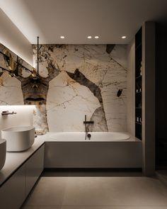 MOPS / The Brick jessghing ⭐️ Bathroom Interior Home Marble Lighting Grand Design Minimalist Minimalism Neutral Marble Bathroom Floor, Small Bathroom, Master Bathroom, Master Baths, Marble Bathrooms, Farmhouse Bathrooms, Zen Master, Boho Bathroom, Bathroom Mirrors