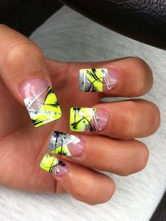 I did this on my nails and they were really pretty.