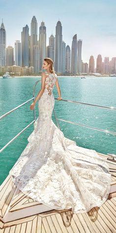 24 Mermaid Wedding Dresses From Top World Designers ❤ See more: http://www.weddingforward.com/mermaid-wedding-dresses/ #wedding #dresses #mermaid