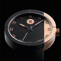 Men's modern watches, inspired by the creative work ethic, ambition and lifestyle of America's West Coast. Designed in San Francisco, philosophy is to construct watches as raw, crafted machines Luxury Watches, Rolex Watches, Cool Watches, Watches For Men, Unique Watches, Black And Gold Watch, Black Gold, Marble Watch, Stainless Steel Watch