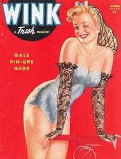 "Summer 1944 vintage Cover of Robert Harrison's ""Wink"" magazine"