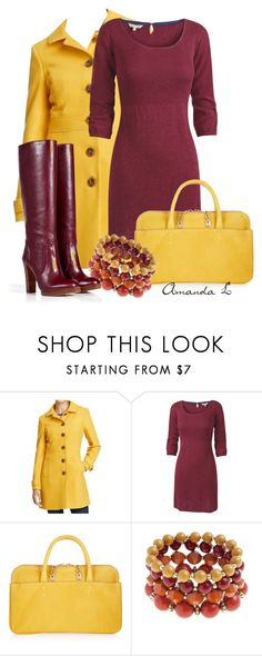 """""""Burgundy & Yellow"""" by ailunsford ❤ liked on Polyvore featuring Old Navy, Fat Face, Chloé and KORS Michael Kors"""