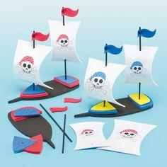Baker Ross 3D Pirate Ship Kits Pack OF 2 Boys Craft Foam Kids Activities   eBay