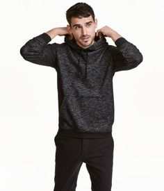 Hooded Sweatshirt | Black melange | Men | H&M US