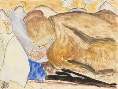 Erich Heckel - Sleeping