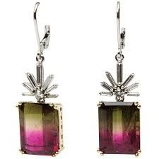 Image result for ruby lane tourmaline watermelon jewelry