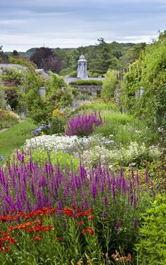 The Herbaceous Border in July at Dyffryn Gardens, Vale of Glamorgan