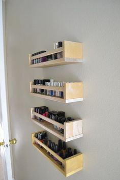 Easy diy Nail Polish Racks! #Organize #Beautyorganization