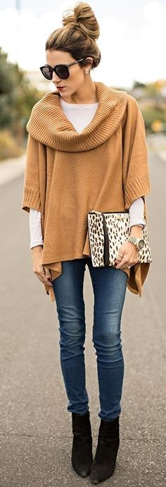 Camel Poncho + Layers                                                                             Source