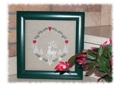 Cross Stitch a Lovely Reindeer and Winter Scene