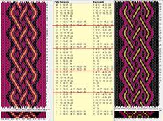 28 tarjetas, 3 colores, repite cada 8 movimientos ... Intercambio de colores // sed_545 diseñado en GTT༺❁