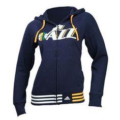Utah Jazz Women's Nothing But Net Hooded Sweatshirt (Navy)