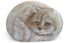 Custom Detailed Cat Portrait Hand Painted in Acrylic on a Sea