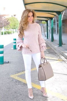 44 Stylish White Pants Ideas For Ladies Classy Outfits, Chic Outfits, Spring Outfits, Fashion Outfits, Womens Fashion, Petite Fashion, Curvy Fashion, Girl Outfits, Casual Chic