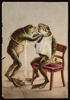 https://flic.kr/p/sz86JB | Frog Getting a Shave - ca 1890s Trade Card |              BUY A PACKAGE OF                MOKASKA COFFEE                         AND You will get a Beautiful Card in each Package.