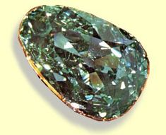 The Dresden Green Diamond, which probably weighed over 100 (old) carats in its rough form, is unique among world famous diamonds. It was originally probably an elongated unbroken stone since greenish diamonds rarely occur as cleavages.The Dresden Green gets its name from the capitol of Saxony where it has been on display for more than 200 years.