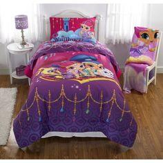 "Nickelodeon's Shimmer and Shine ""Magic Wonders"" Reversible Twin/Full Bedding Comforter - Walmart.com"
