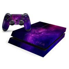 Playstation 4 Console Skin Purple Galaxy Nebula - Playstation - Ideas of Playstation - - Playstation 4 Console, Playstation 5, Control Ps4, Mundo Dos Games, Ps4 Skins, Gaming Room Setup, Vr Games, Video Games, Game Room Design