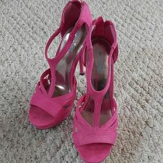 Pink Charlotte Russe Heels Fairly high, pop of color heels Charlotte Russe Shoes Heels