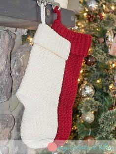 New crochet christmas stocking pattern free fun 47 ideas Knitted Christmas Stocking Patterns, Crochet Stocking, Knitted Christmas Stockings, Crochet Christmas Ornaments, Xmas Stockings, Christmas Knitting, Crochet Gifts, Free Crochet, Christmas Patterns
