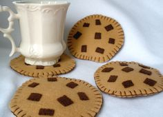 Felt Coasters Chocolate Chip Cookies - MugMats Set of Four