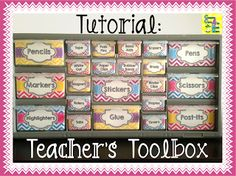 Teacher's Toolbox Tutorial and FREE label templates.