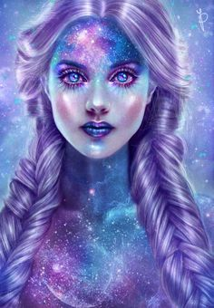 A virtual jigsaw puzzle from Jigidi Dark Fantasy Art, Fantasy Girl, Fantasy Artwork, Dark Art, Cartoon Kunst, Cartoon Art, Arte Aries, Bel Art, L'art Du Portrait