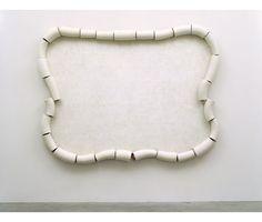 "Jeff Colson   Scroll, 2006 Fiberglass, Acrylic, Steel 6' (H) x 8' (W) x 6"" (D)"