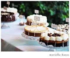 Cheesecake Factory cheesecakes wedding....will Bobby be making these varieties for me??!!