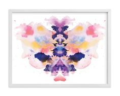 """""""Watercolor Inkblot 1"""" - Art Print by Kristen Smith in beautiful frame options and a variety of sizes."""