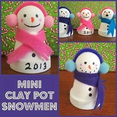 Have the kids paint the pot and include snowman footprint with it