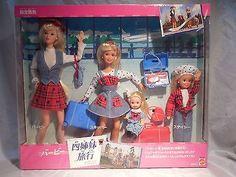 1995 Barbie Travelin' Sisters Play Set
