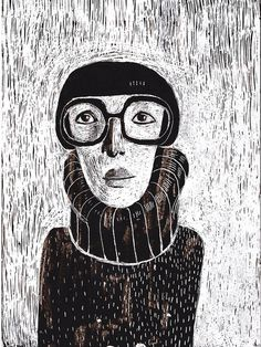 woman with glasses print by behappynow on Etsy Simple Illustration, Abstract Portrait, Ap Art, Art Party, Womens Glasses, Gravure, Print Pictures, Printmaking, Art Drawings