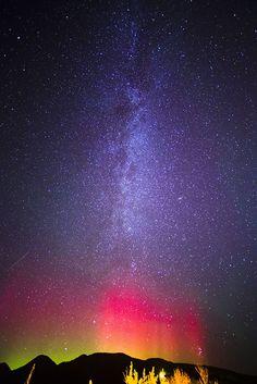 Aurora Borealis in Whitefish, Montana // Sweetsonian