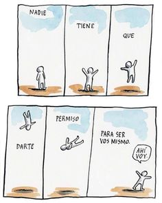 Liniers Poetry Quotes, Me Quotes, Humor Grafico, Good Notes, Cheer Up, Some Words, Picture Quotes, Hand Lettering, Feelings