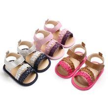 Baby Girls Summer Sandals Shoes Toddler Soft Sole Crib Prewalker Anti-Slip