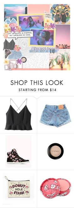 """""""♡ it'd be nice of me to take it easy on ya, but nah"""" by tightrope-of-weird ❤ liked on Polyvore featuring WithChic, Forever 21, Von Vonni, MAC Cosmetics, Luli, Stila and imgrc"""