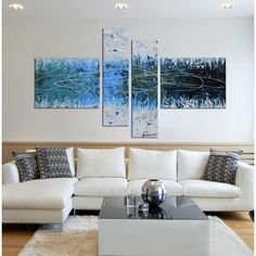 Show off your artistic side with this Hand-painted Hand-painted 'Winter Forest-wrapped Canvas Art Set. It is hand painted and can be hung horizontally. This piece of art will surely add a splash of style to your home.