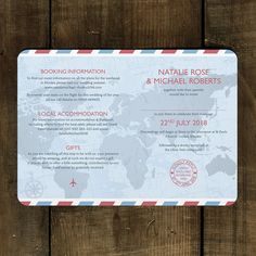Passport Wedding Invitation - Feel Good Wedding Invitations