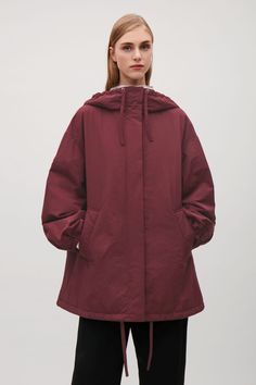 COS image 9 of Oversized padded parka  in Burgundy